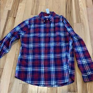 Gap button down plaid shirt